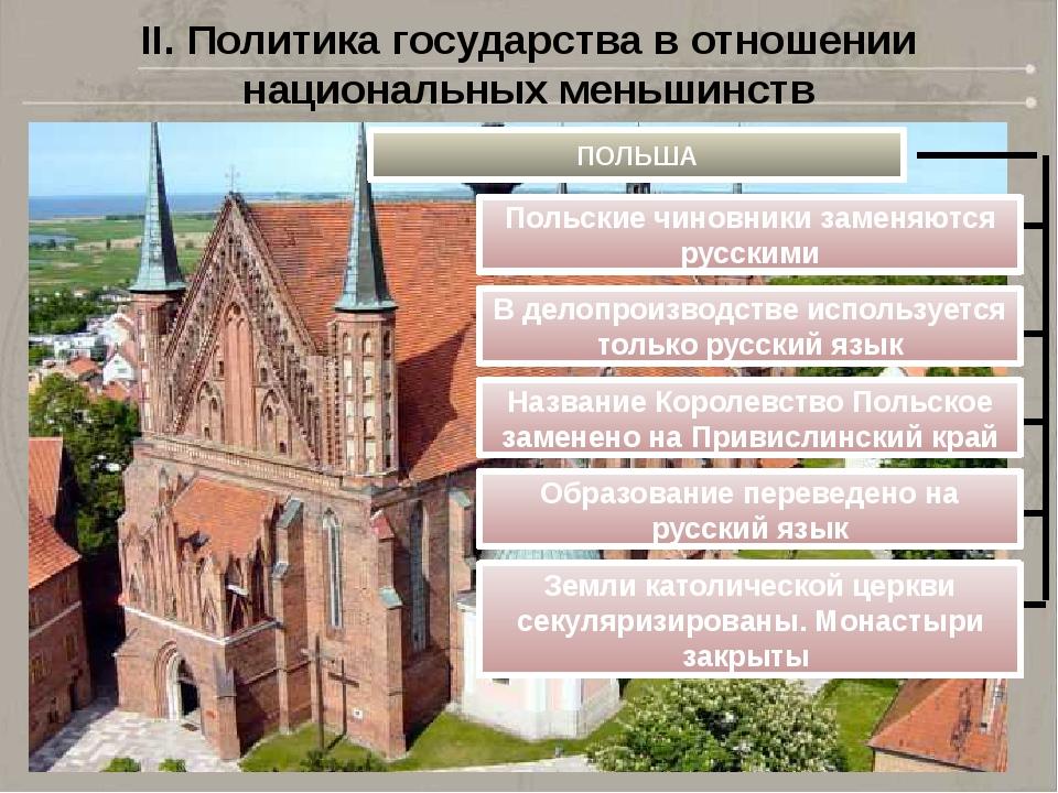 II. Политика государства в отношении национальных меньшинств ПОЛЬША Польские...