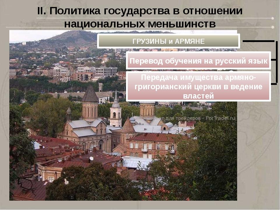 II. Политика государства в отношении национальных меньшинств ГРУЗИНЫ и АРМЯНЕ...