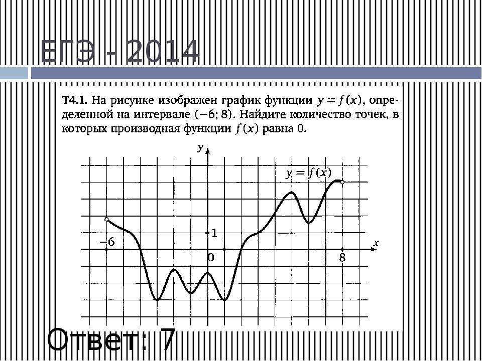 ЕГЭ - 2014 Ответ: 7