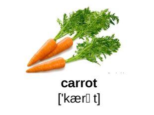 carrot ['kærət]