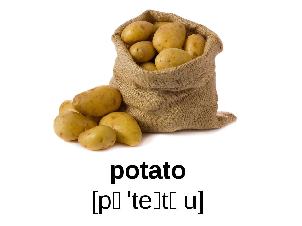 potato [pə'teɪtəu]