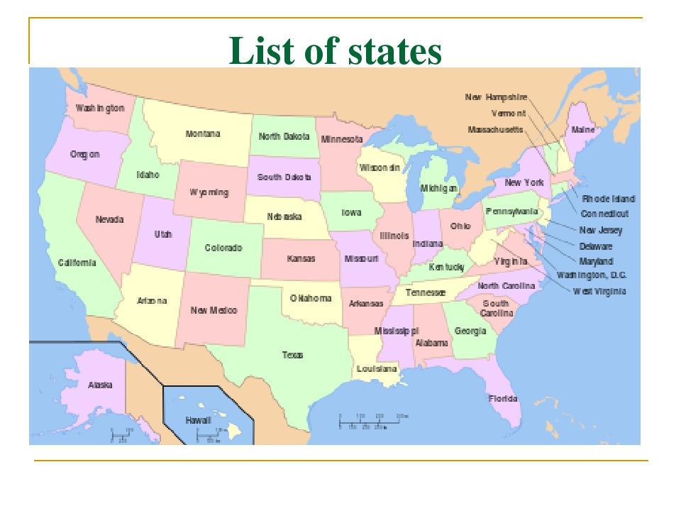 List of states