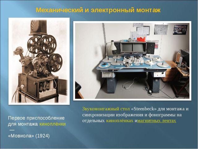 Первое приспособление для монтажа киноплёнки— «Мовиола» (1924) Звукомонтажны...