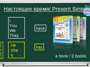 Настоящее время/ Present Simple I You We They He She It have has a book / 3