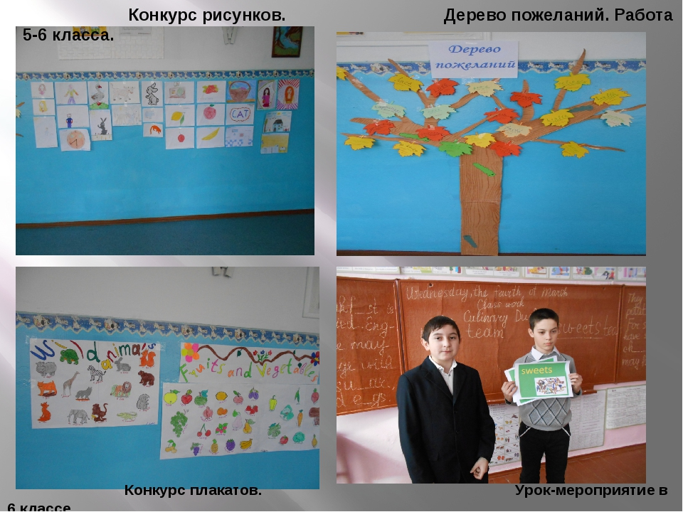 Конкурс плакатов. Урок-мероприятие в 6 классе. Конкурс рисунков. Дерево поже...