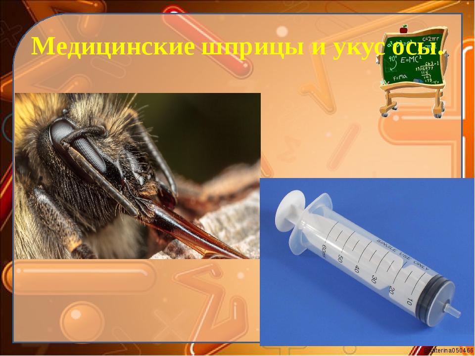 Медицинские шприцы и укус осы. Ekaterina050466