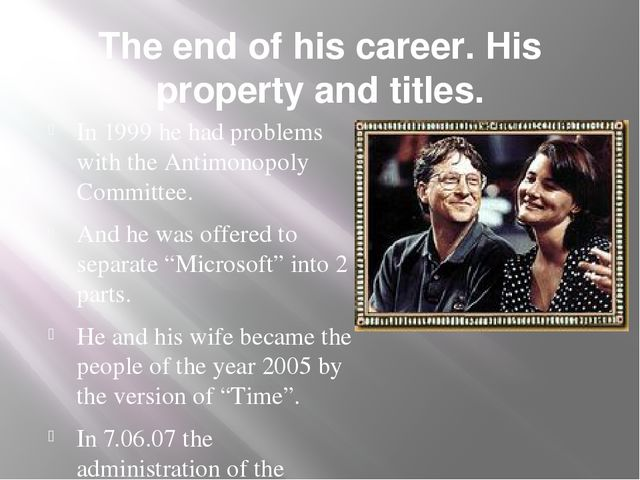 The end of his career. His property and titles. In 1999 he had problems with...