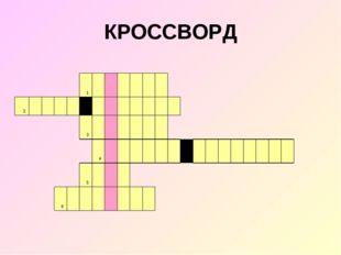 КРОССВОРД 1 2