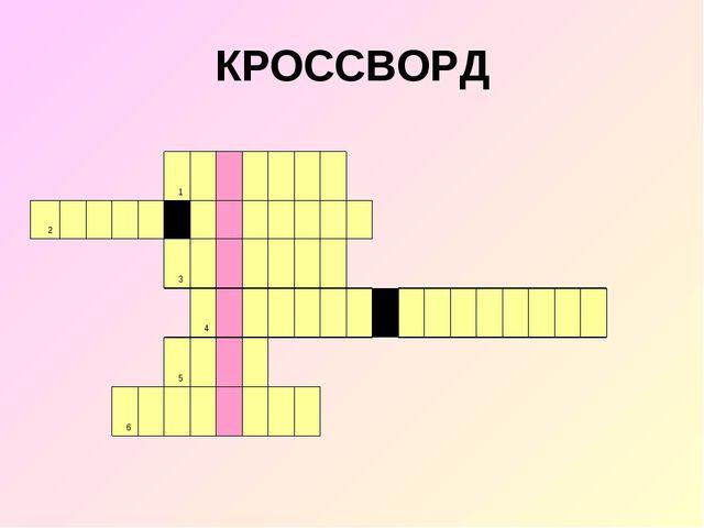 КРОССВОРД 1 2...