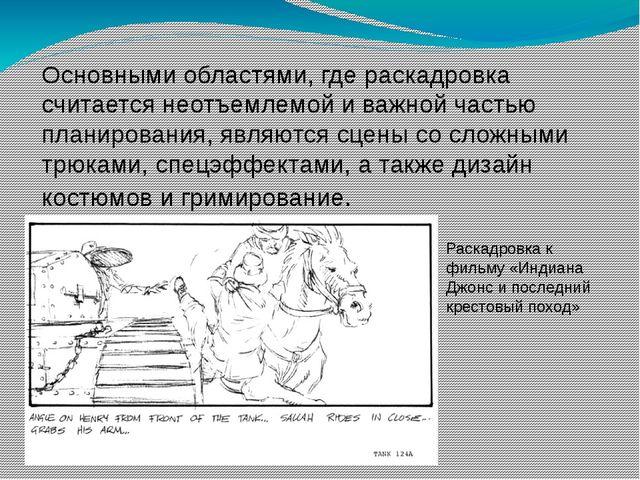 Основными областями, где раскадровка считается неотъемлемой и важной частью п...