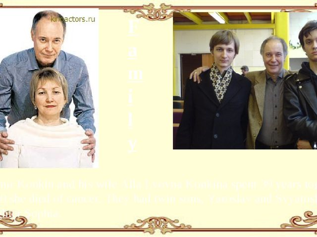 Family Vladimir Konkin and his wife Alla Lvovna Konkina spent 39 years togeth...