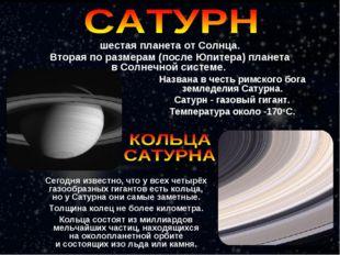 Названа в честь римского бога земледелия Сатурна. Сатурн - газовый гигант. Те