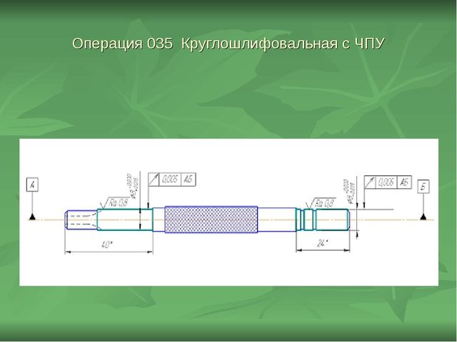 Операция 035 Круглошлифовальная с ЧПУ