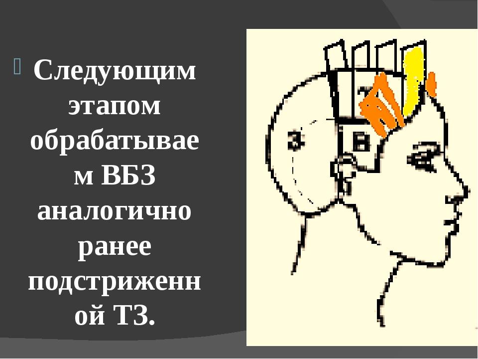 Следующим этапом обрабатываем ВБЗ аналогично ранее подстриженной ТЗ.