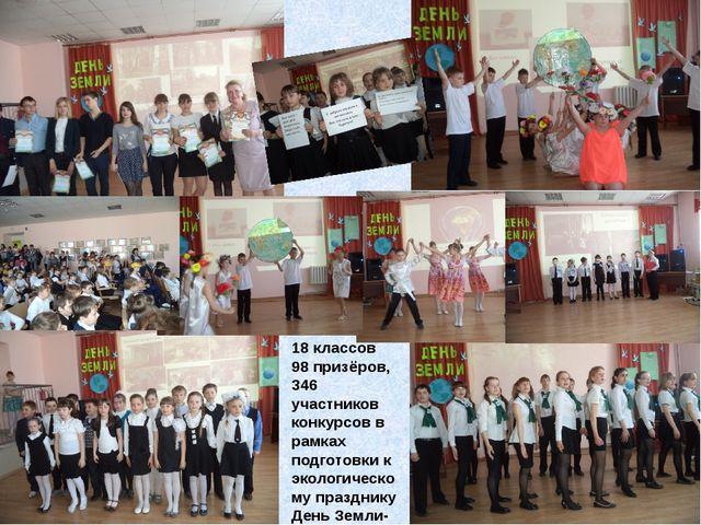 18 классов 98 призёров, 346 участников конкурсов в рамках подготовки к эколог...