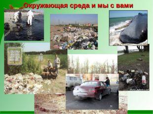 Писаревская Татьяна Петровна БСОШ№1 Баган Окружающая среда и мы с вами