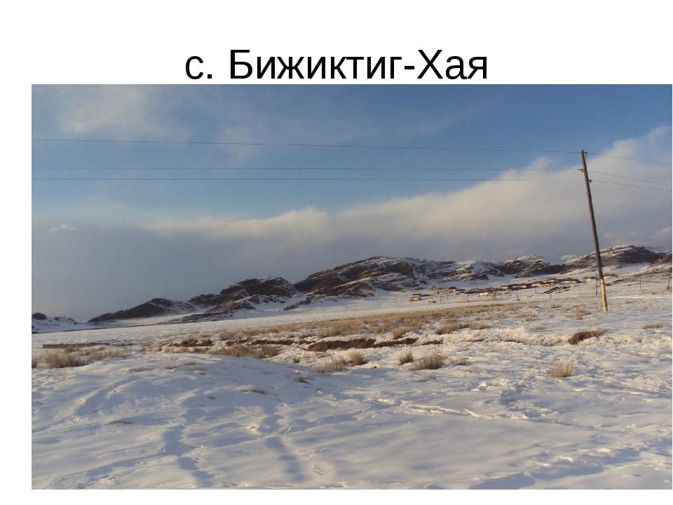 с. Бижиктиг-Хая