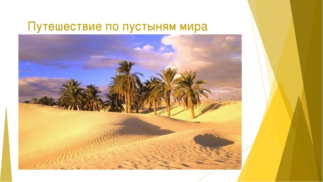 Путешествие по пустыням мира