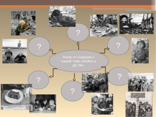 Ваши ассоциации к нашей теме «Война и ДЕТИ» ? ? ? ? ? ?