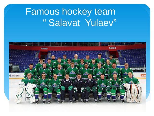 """Famous hockey team """" Salavat Yulaev"""""""