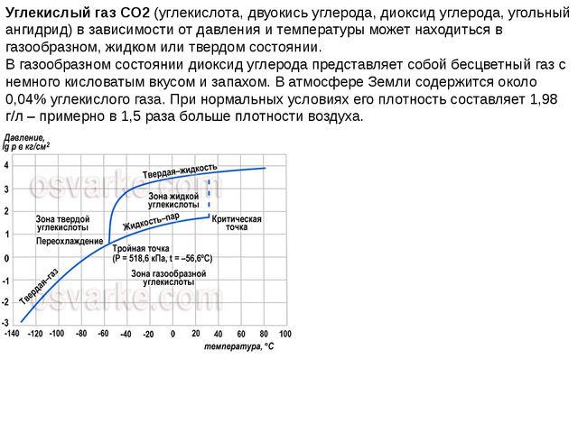Углекислый газ CO2(углекислота, двуокись углерода, диоксид углерода, угольны...