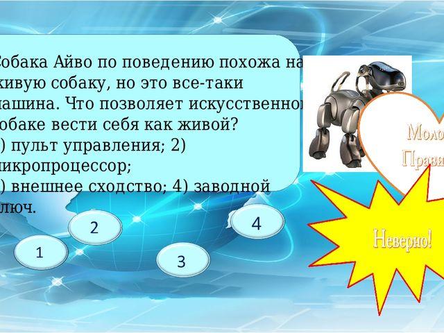 Собака Айво по поведению похожа на живую собаку, но это все-таки машина. Что...