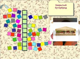 Б Т Х Л Е Г Основа бутерброда М А Р Г Е Р Вид сандвича с приправой. Поджаренн