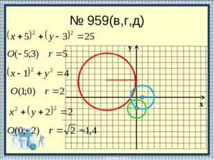 № 959(в,г,д)