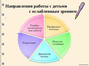 Направления работы с детьми с ослабленным зрением Ekaterina050466