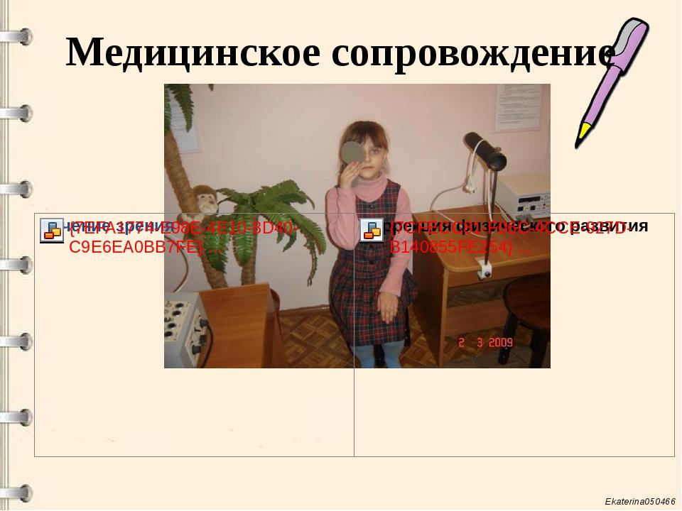 Медицинское сопровождение Ekaterina050466
