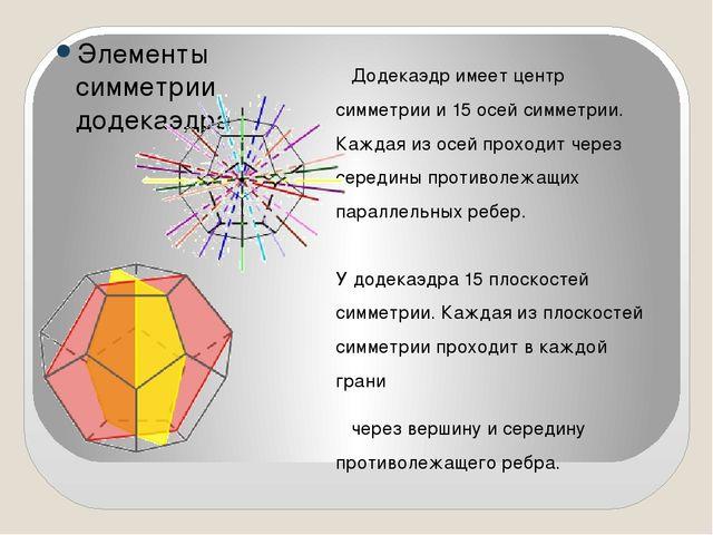 Куб и октаэдр Центры граней куба являются вершинами октаэдра, в свою очередь...