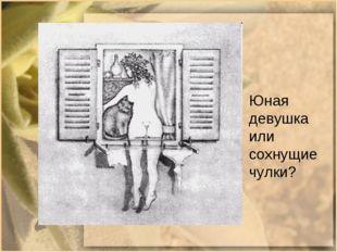 Юная девушка или сохнущие чулки?