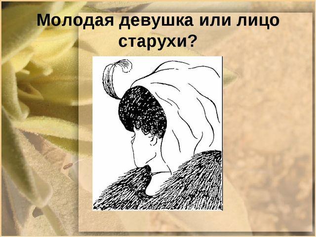 Молодая девушка или лицо старухи?
