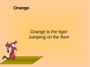 Orange Orange is the tiger Jumping on the floor