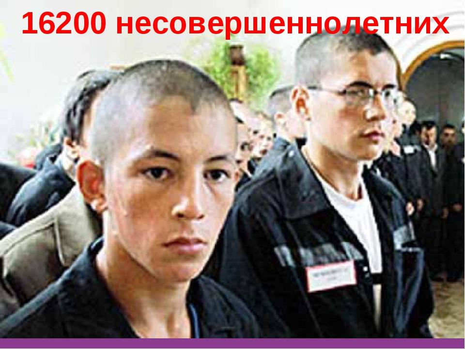 16200 несовершеннолетних