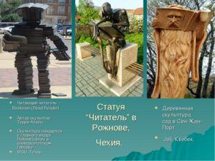 """Статуя """"Читатель"""" в Рожнове, Чехия. Читающий читатель - Bookman (Read Reade"""