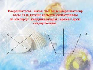 Координаталық жазықтықтағы координаталар басы О нүктесіне катысты симметриялы