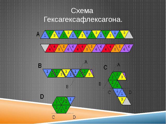 Схема Гексагексафлексагона.