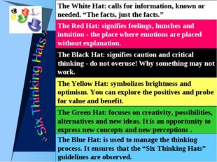 "The White Hat: calls for information, known or needed. ""The facts, just the f"