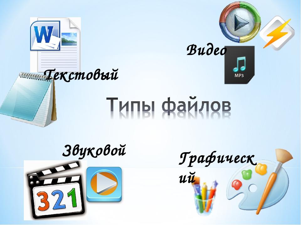 Текстовый Видео Звуковой Графический