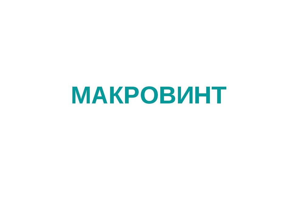 МАКРОВИНТ