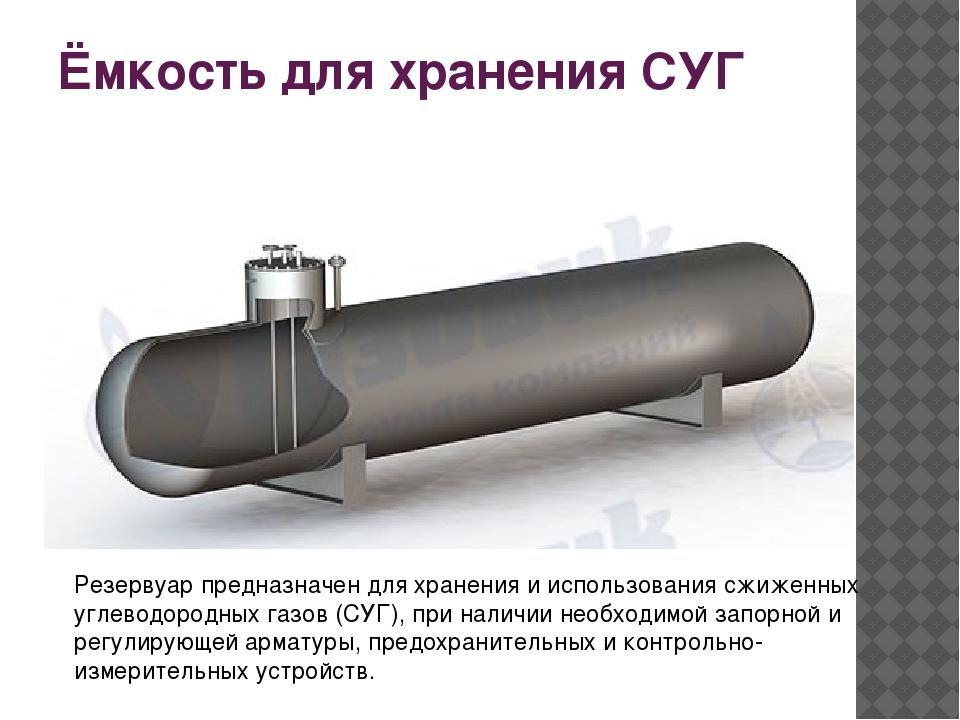 Ёмкость для хранения СУГ Резервуар предназначен для хранения и использования...