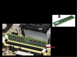 Оперативная память Оперативная память изготавливается в виде Модули памяти ус