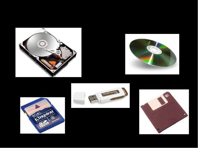 Долговременная память жёсткий диск оптический диск Карта памяти (flash-память...