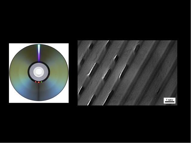Долговременная память Оптический диск Поверхность оптического диска имеет уча...