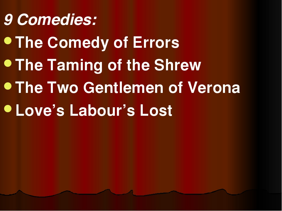 9 Comedies: The Comedy of Errors The Taming of the Shrew The Two Gentlemen of...