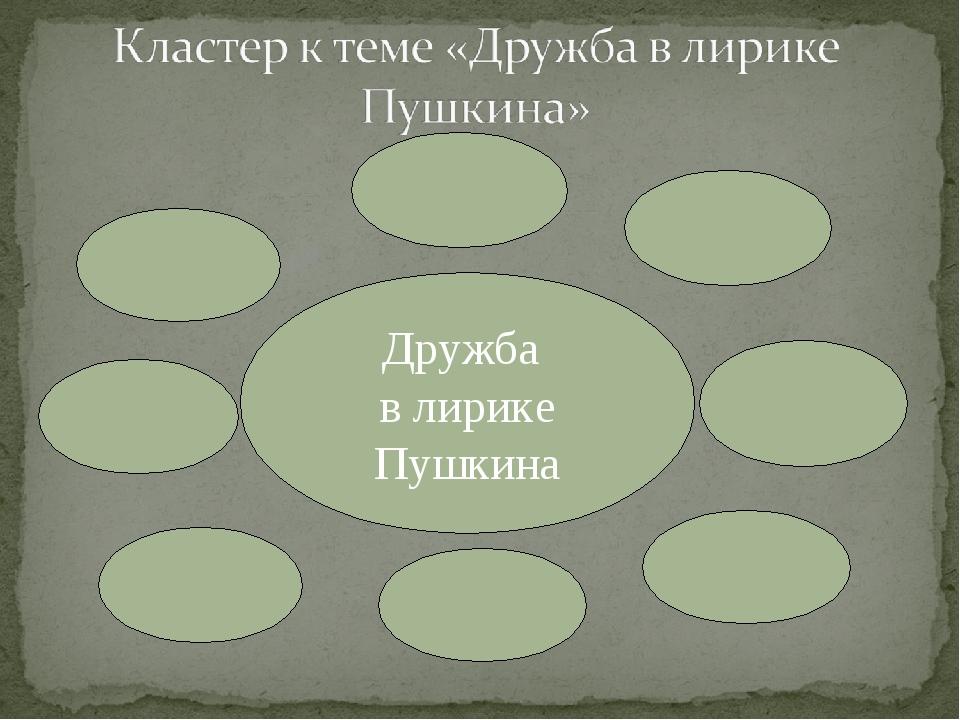 Дружба в лирике Пушкина
