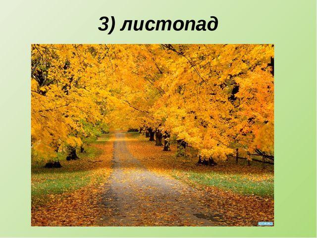 3) листопад