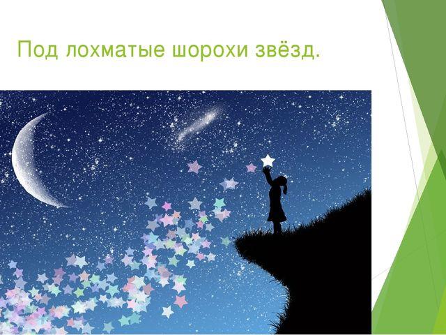 Под лохматые шорохи звёзд.