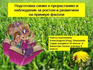Подготовка семян к прорастанию и наблюдение за ростом и развитием на примере